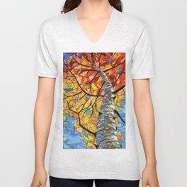 Mosaic tree Unisex V-Neck