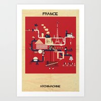 france Art Prints featuring France by federico babina