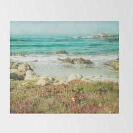 Scenic Photography, Beach, 17 Mile Drive, Monterey, Pebble Beach, Pacific Grove,  Throw Blanket