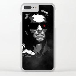 He'll Be Back Terminator Schwarzenegger Clear iPhone Case