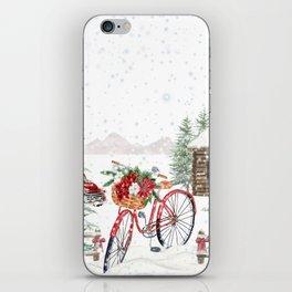 Winter Bicycle iPhone Skin