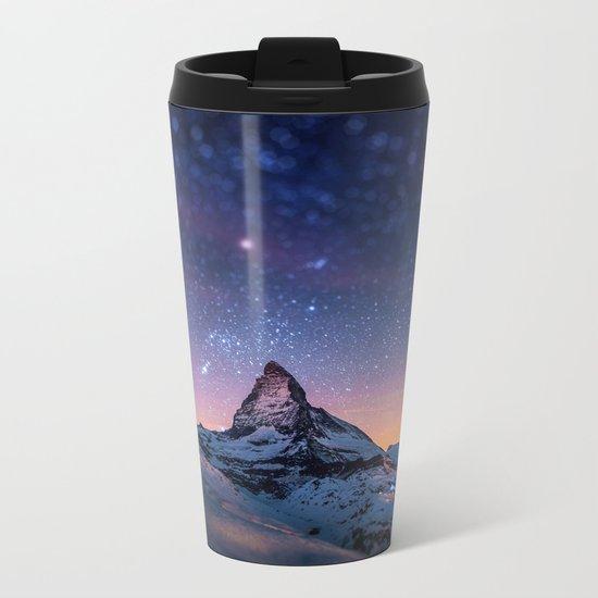 mountain view Metal Travel Mug
