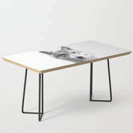 Black and White Wolf Coffee Table