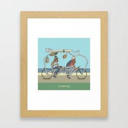 Tandem Campers Framed Art Print