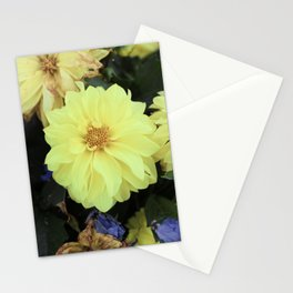 Full Yellow Vintage Flower Stationery Cards