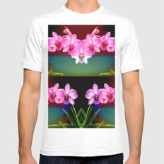 Magical Orchids MEDIUM Mens Fitted Tee White