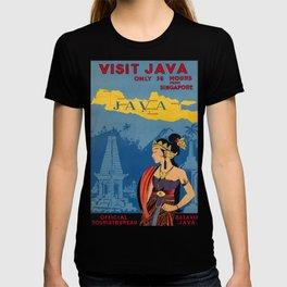 Visit Java Vintage Travel Poster T-shirt