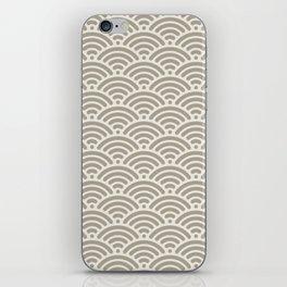 Gray Grey Alabaster Mermaid Scales iPhone Skin
