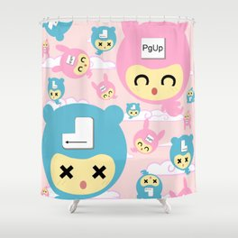 Enter&PgUp Shower Curtain