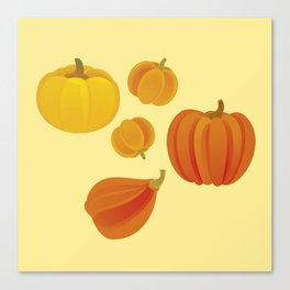 Pumpkins. Thanksgiving day. Canvas Print