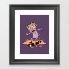 Hipster Monster Framed Art Print