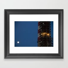 Working with the moon Framed Art Print