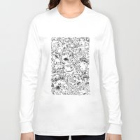 it crowd Long Sleeve T-shirts featuring Crowd by Sára Szabó