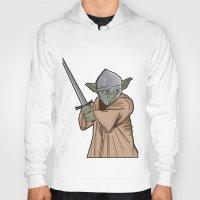 medieval Hoodies featuring Yoda medieval  by  Steve Wade ( Swade)