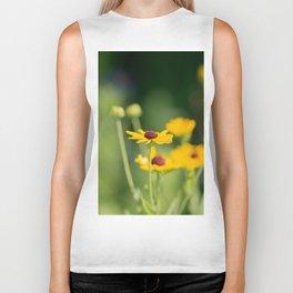 Portrait of a Wildflower in Summer Bloom Biker Tank