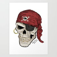Yo ho ho and a bottle of rum Art Print