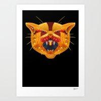 sneaker Art Prints featuring Sneaker Wildcat by Steven Piantoni