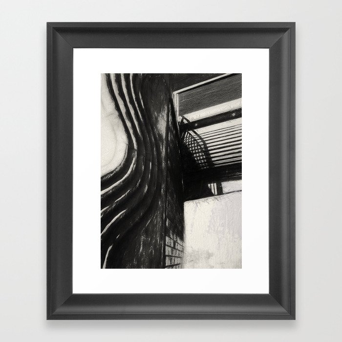 Conflicting ways Framed Art Print