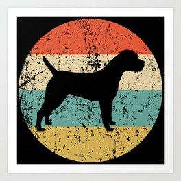 Border Terrier Retro Border Terrier Dog Art Print