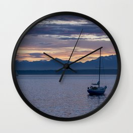 Moored for the Night Wall Clock