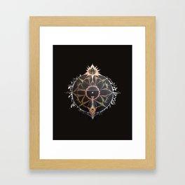 Saraswati Mandala Black Framed Art Print