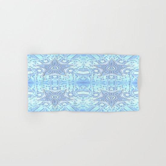 Frozen Blue Stars Hand & Bath Towel
