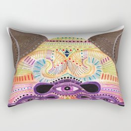 watch my lips mask Rectangular Pillow