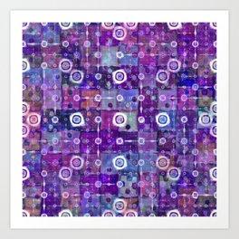Purple Celestial Quilt Art Print
