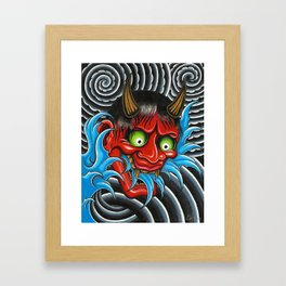 Hannya Mask Framed Art Print