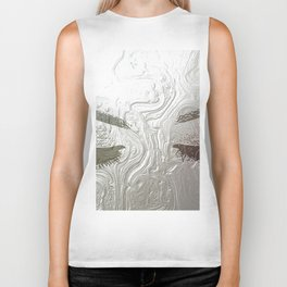 Silver and lashed glam Biker Tank