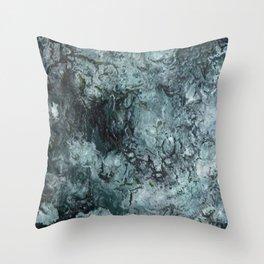 Green Pour Throw Pillow