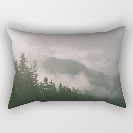 Foggy Forest (Squamish, British Columbia, Canada) Rectangular Pillow