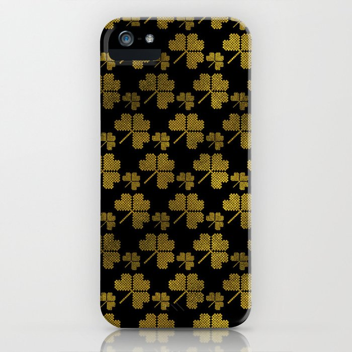 Irish Shamrock clover  pattern iPhone Case