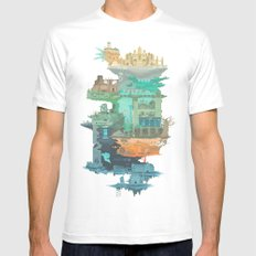 Dark Souls World Map Mens Fitted Tee White X-LARGE