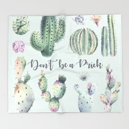 Don't be a Prick Throw Blanket