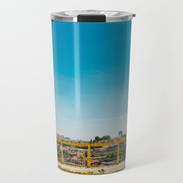 Yellow house with a view Travel Mug
