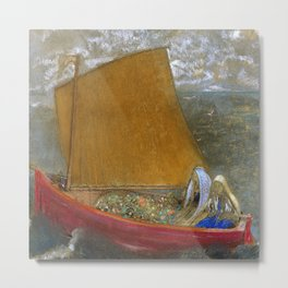The Yellow Sail - Odilon Redon 1905 Metal Print
