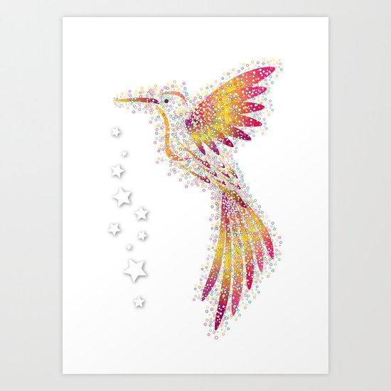 Bubble Bird Art Print