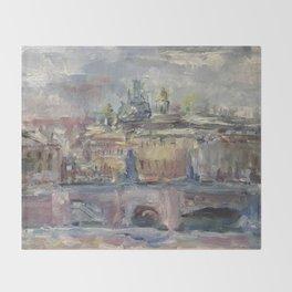 Oil Painting On Canvas City Landscape Artwork Impressionism Cozy Home Decor Bedroom Decoration Throw Blanket