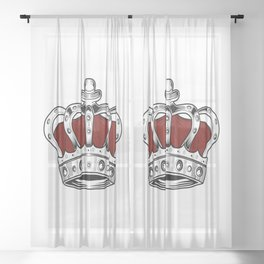 Crown - Red Sheer Curtain