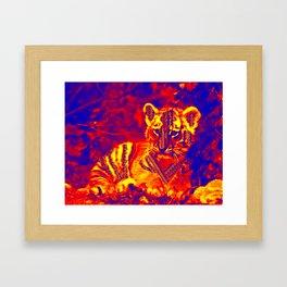 Aztec lion cub Framed Art Print