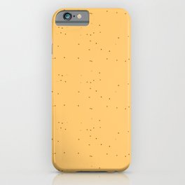 Orange Brown Shambolic Bubbles iPhone Case