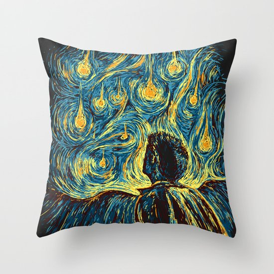 Angels, They're Falling Throw Pillow