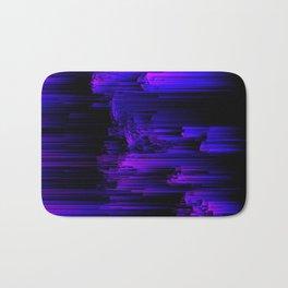 Ultraviolet Light Speed - Abstract Glitch Pixel Art Bath Mat
