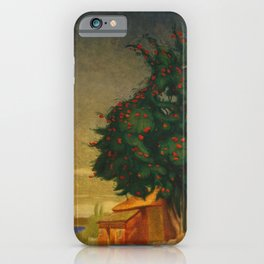 Red Mountain Ash Blossoms Oslo, Norway floral landscape painting by Harald Sohberg iPhone Case