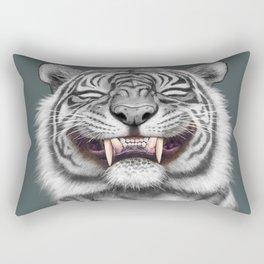 Smiling Tiger - monotone Rectangular Pillow