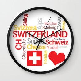 My Favorite Swiss Things Wall Clock