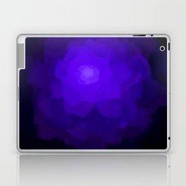 Glowing Blue Rose Emerging from  Darkness Laptop & iPad Skin