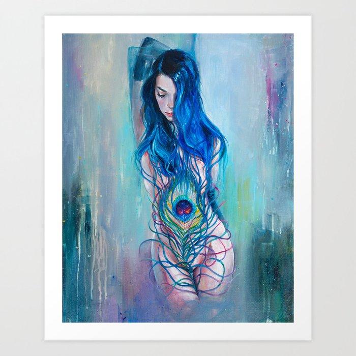 Peafowl Flow Art Print
