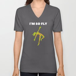 I'm so Fly! Gettin High Unisex V-Neck